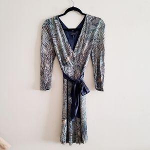 BCBGMAXAZRIA Blue Lined Dress Size S
